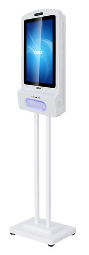"Corona Signage Sanitizier, 15,6"" Display,Temp.-Detektor, Händedesinfektion"